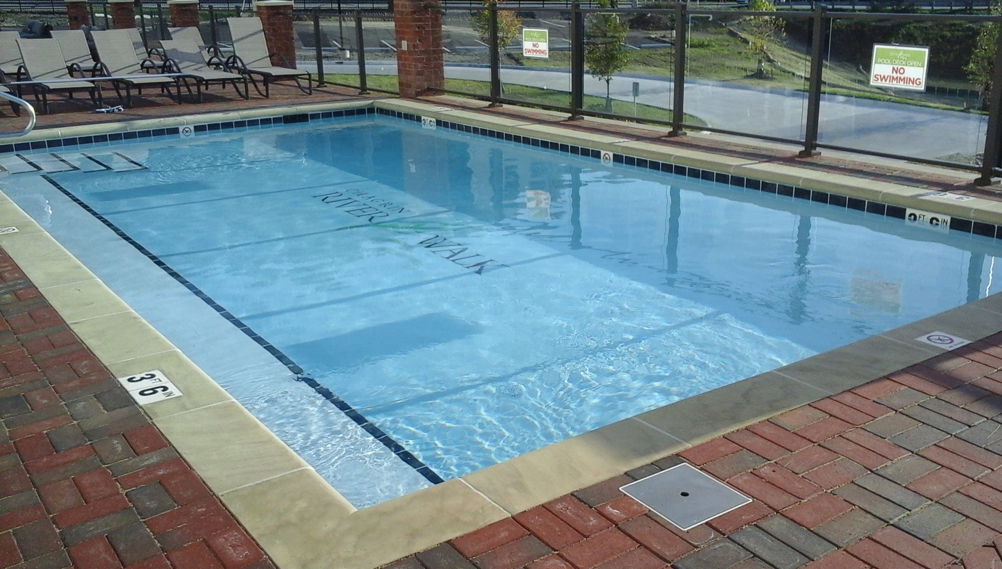 ground pool floor com overlap liner padding amazon solid above liners blue b round